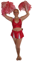Gimme a P, gimme an A, gimme an RTY and you've got a great PARTY with our gorgeous cheerleader